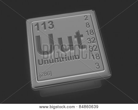 Ununtrium. Chemical element. 3d