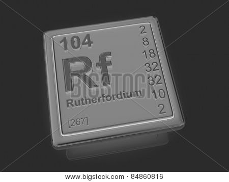Rutherfordium. Chemical element. 3d