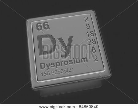 Dysprosium. Chemical element. 3d