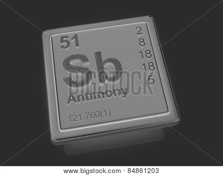 Antimony. Chemical element. 3d