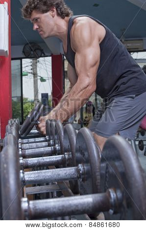 Dumbbell Workout In Gym