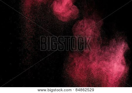 Abstract pink paint Holi.