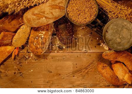 Homemade baked goods on a table