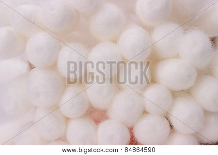 Close Up Of Cotton Buds