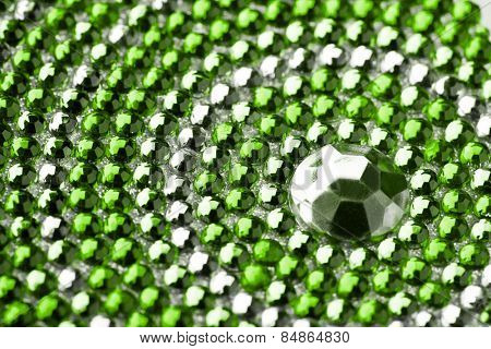 green and silver texture with crystals
