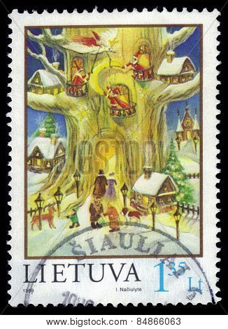 Christmas Stamp, Fairy Forest