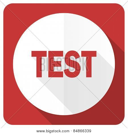 test red flat icon