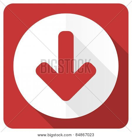 download arrow red flat icon arrow sign