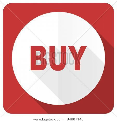 buy red flat icon