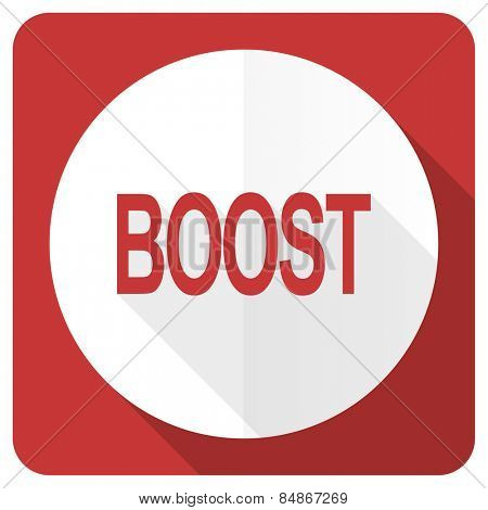 boost red flat icon