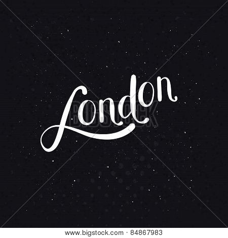White London Message on a Dotted Black Background