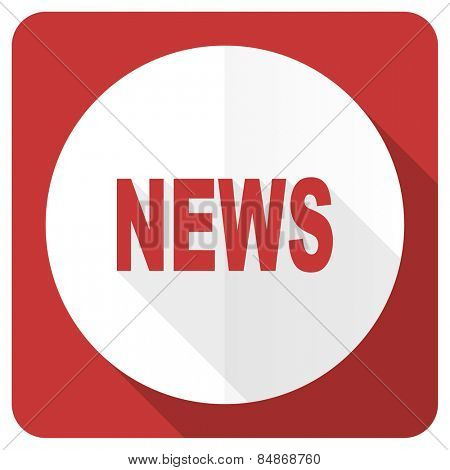 news red flat icon