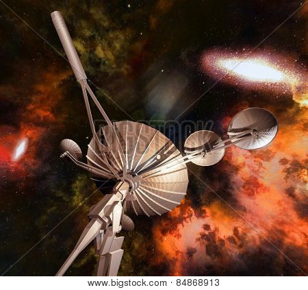 Radio telescope aiming at night sky