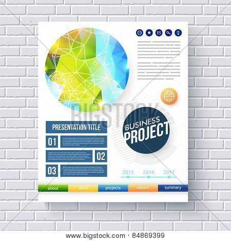 Business report design template