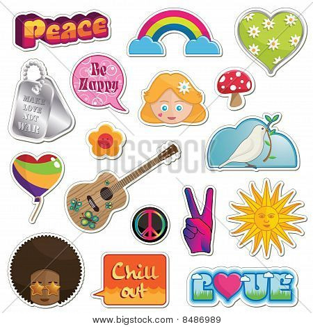 Peace And Love Stickers