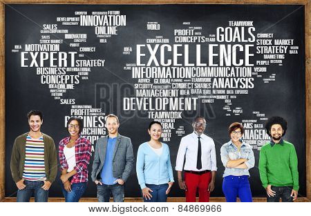Excellence Expertise Perfection Global Growth Concept