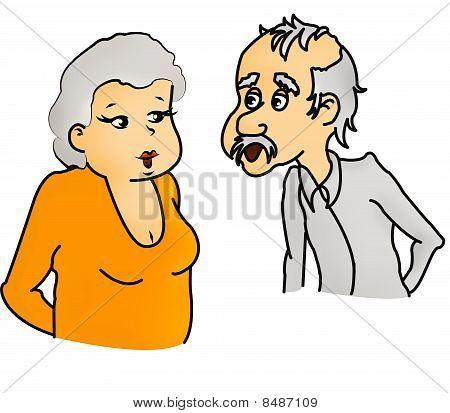 Pensioner couple