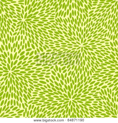 Japanese seamless green leaves kimono pattern