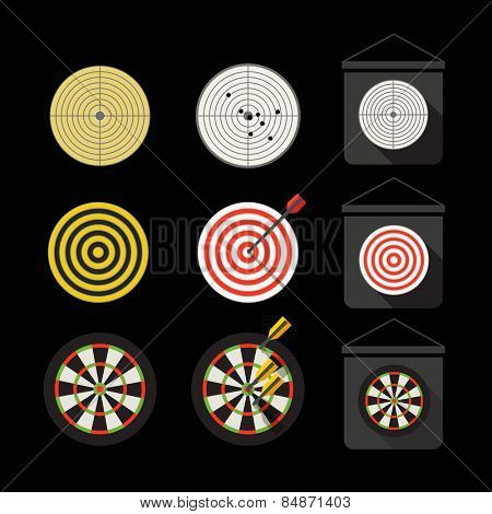 Different darts collection. Flat design