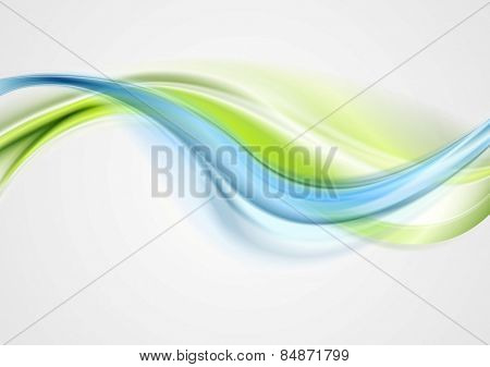 Abstract elegant green blue waves. Vector design