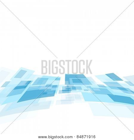 Shiny motion tech blue background. Vector design
