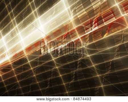 Abstract digital technology background. Red over black.