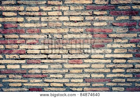 Old red brick wall textures and backgrounds