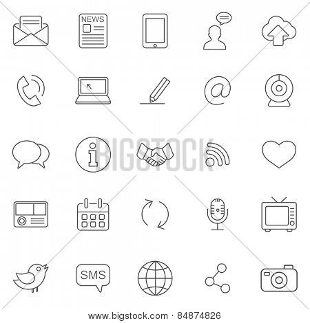 Communication line icons set.Vector