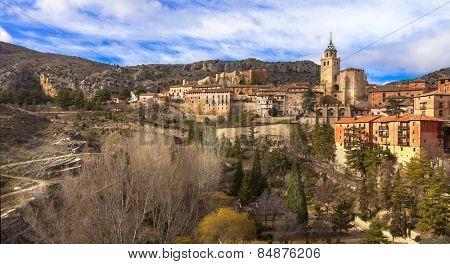 unique Albarracin -terracote town of Spain