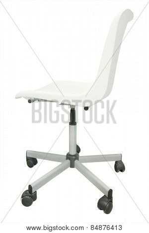 White chair isolated on white background.