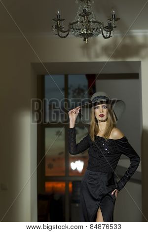 Pretty Girl Or Woman In The Hat