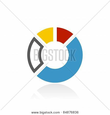 Accent Series Donut Chart Icon