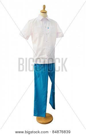 Medical clothing dentist isolated under the white background