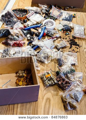 Findings For Beads Making On Table