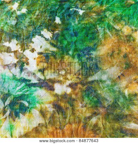 Detail Of Painting On Silk Batik
