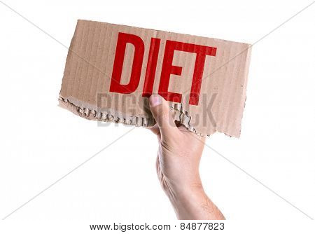 Diet card isolated on white background