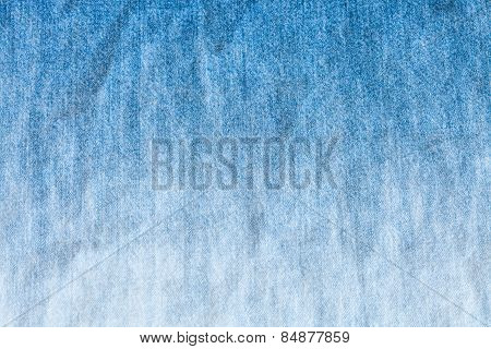 Blue And White Dyeing Of Denim Jean