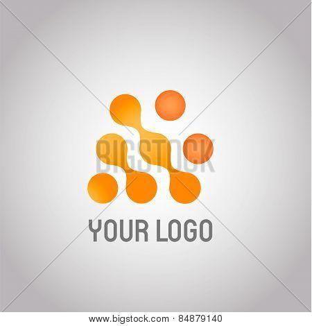 Abstract Technology Logo Design Template. Molecule, Nanotechnology, Dna Theme. Creative Concept Icon