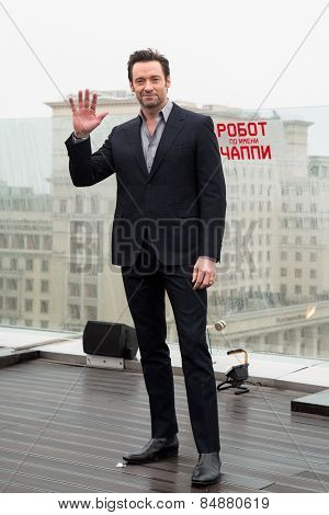 MOSCOW, RUSSIA, MARCH, 01: Actor Hugh Jackman. Photo-call of the movie
