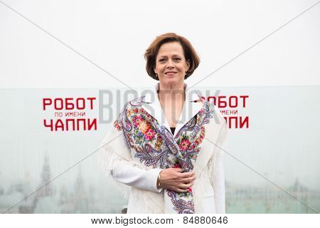 MOSCOW, RUSSIA, MARCH, 01: Actress Sigourney Weaver. Photo-call of the movie