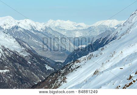Dolomiten Alps Winter View (austria).