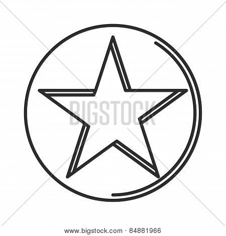 star icon minimal linear contour outline style vector illustration