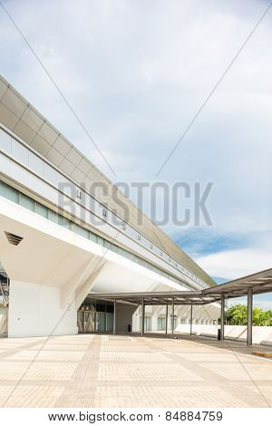 Kallang,Singapore-July 1,2014:Singapore Indoor stadium exterior.The Singapore Indoor Stadium is an indoor sports arena, located in Kallang, Singapore.