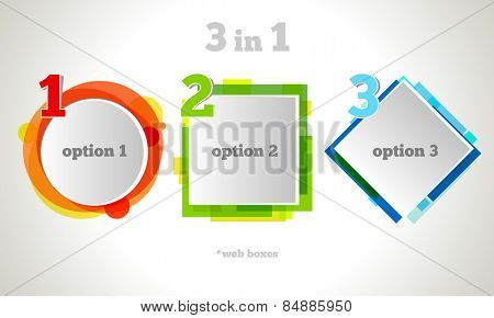 Abstract Web Design Bubble Text. Vector Business Frame. Colorful Banner Set