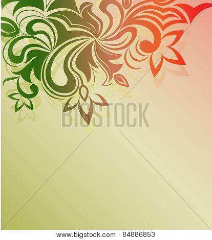 Floral ornament background with copy space.