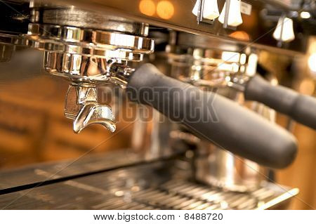 Close-up  of large espresso maker