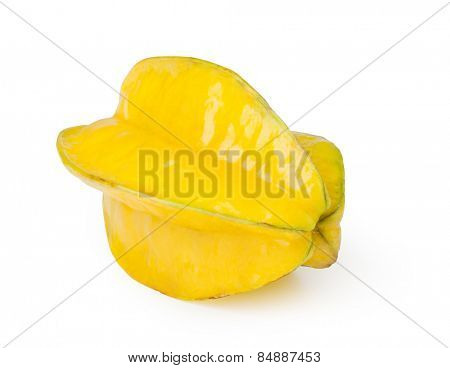 Yellow Carambola isolated on white background