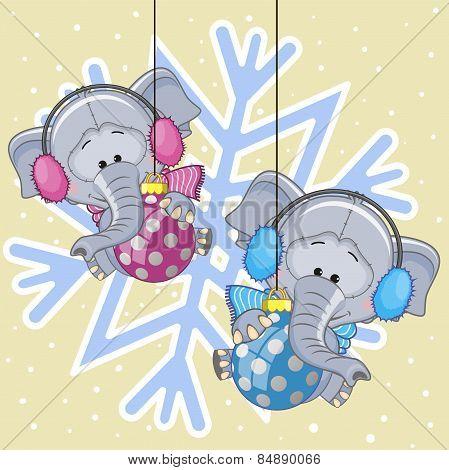 Two Elephants In A Fur Headphones