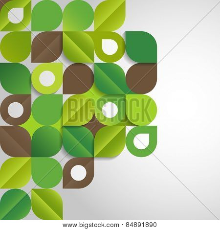 Abstract background with green leaves, eps10 vector