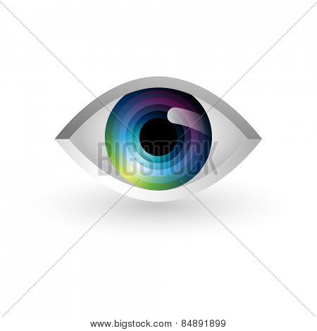 Abstract eye, eps10 vector